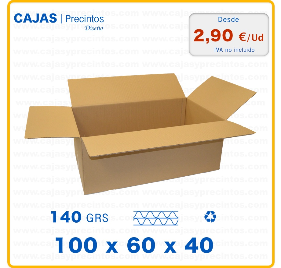 caja de cart n 100 x 60 x 40 cm canal doble con 4 solapas especial para 1 juego de mantas. Black Bedroom Furniture Sets. Home Design Ideas