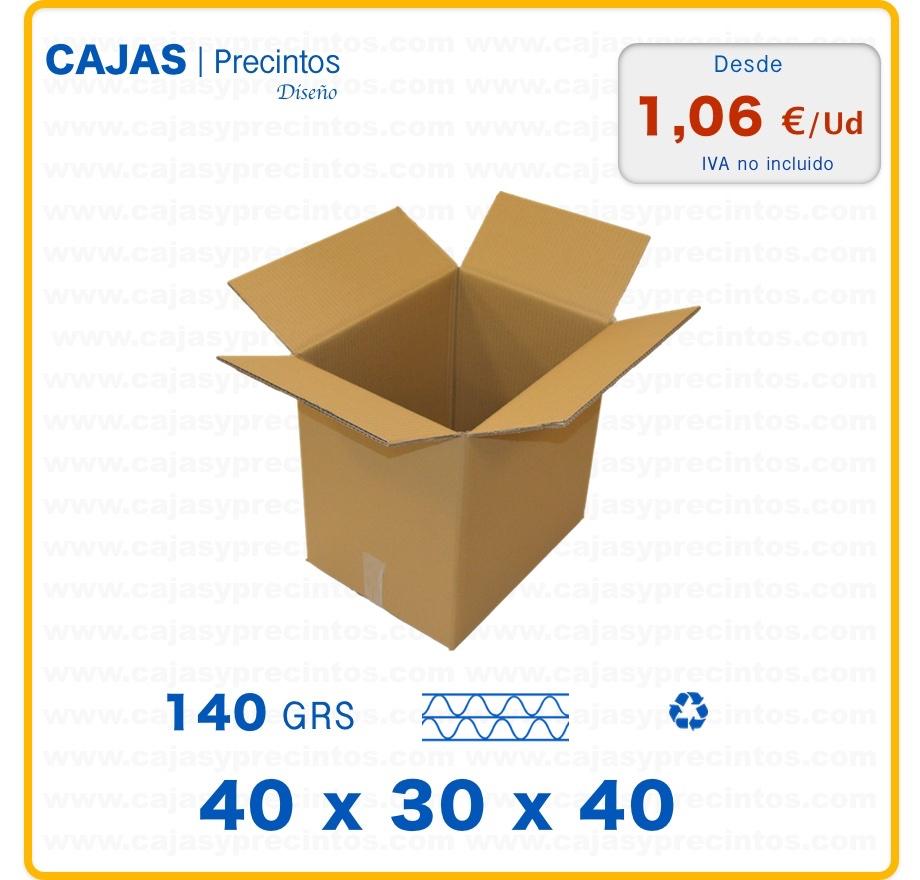 caja de cart n 40 x 30 x 40 cm canal doble cajas y precintos. Black Bedroom Furniture Sets. Home Design Ideas