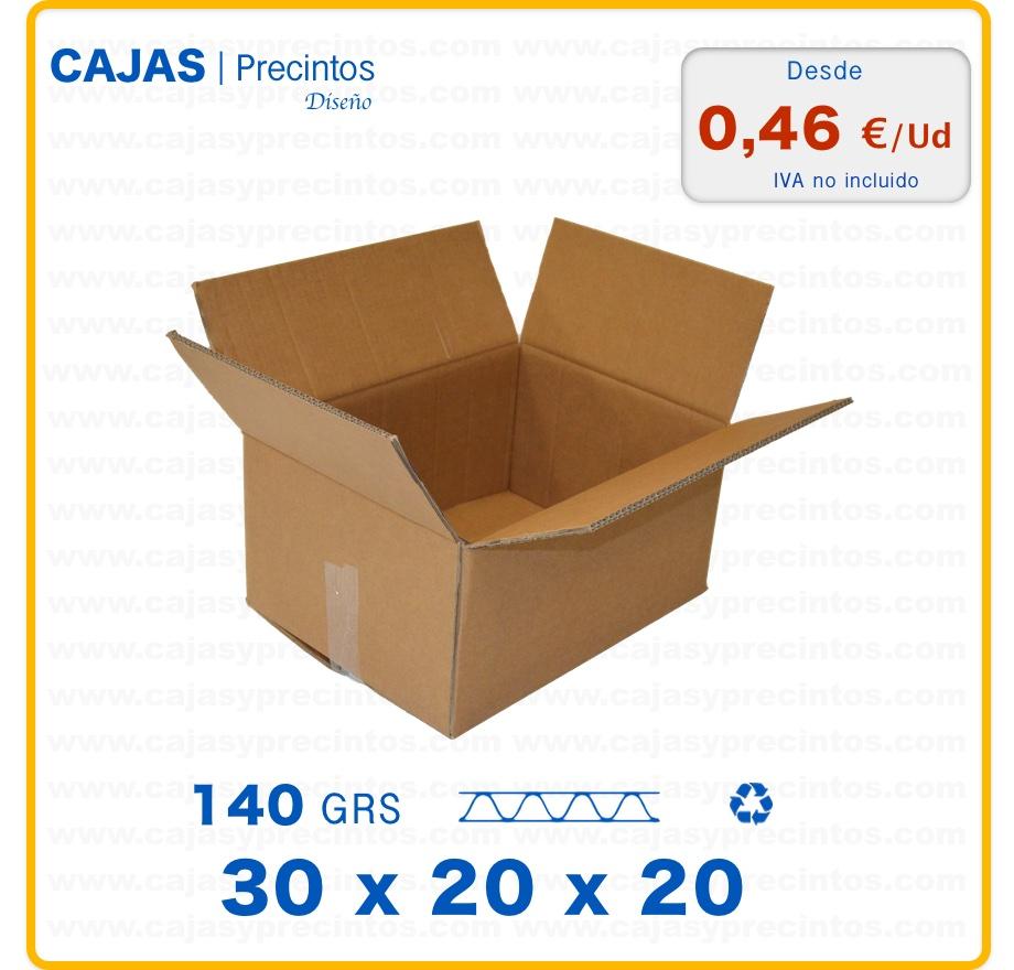 caja de cart n 30 x 20 x 20 cm canal sencillo cajas y precintos. Black Bedroom Furniture Sets. Home Design Ideas