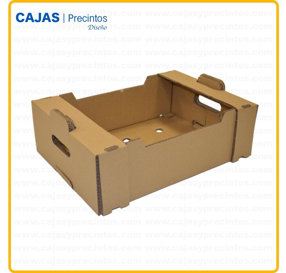 Caja Carton 39 X 28 X 10 Cm Para Frutas Y Verduras Hasta 10 Kg - Cajas-fruta