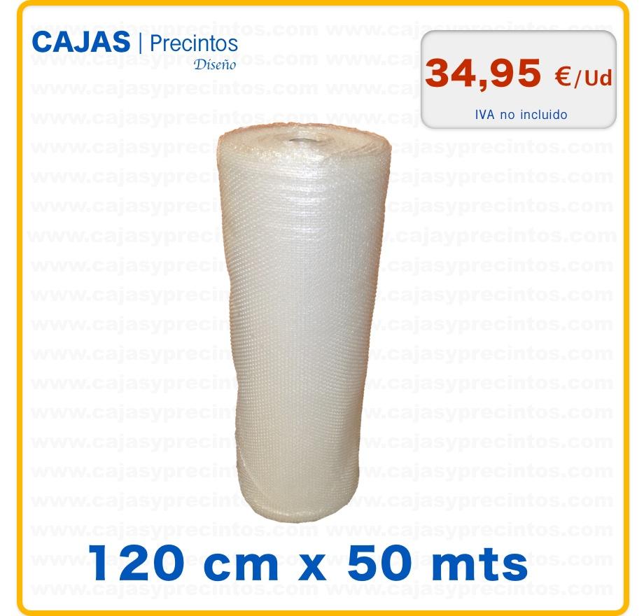 Rollo de pl stico burbuja 120 cm x 50 mts cajas y precintos for Espejo 120 x 50